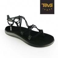 TEVA 女 Voya Infinity 羅馬織帶涼鞋 黑 1019622BLK