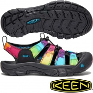KEEN 1018822  Newport Retro 女戶外護趾涼鞋 黑彩色