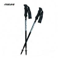 FIZAN  FZS19.7102 超輕三節式健行登山杖組(2入) 黑