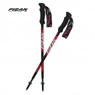 FIZAN   FZS19.7104 超輕三節式健行登山杖組(2入) 紅