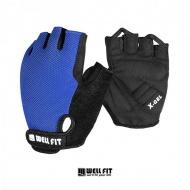 WELLFIT FREE STYLE自行車手套  藍色 010003514