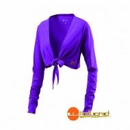 WILDLAND W1805-58  女抗UV排汗綁帶袖套衣  葡萄紫