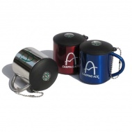 雙層小不鏽鋼杯(附蓋+指北針)/130ml/雙層不燙手/茶杯 水杯 ARC-156-13