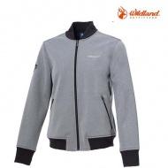 WILDLAND   0A72915-90  女防潑防風保暖飛行外套  灰色