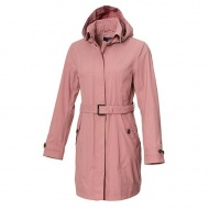 WILDLAND 0A72909-28 女長版防水防風時尚外套 粉色