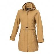 WILDLAND 0A72909-62 女長版防水防風時尚外套 黃卡其