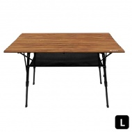 Outdoorbase 胡桃色木紋鋁合金蛋捲桌 L 25476