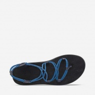 TEVA 女 Voya Infinity Stripe 羅馬織帶涼鞋 法國藍 1106866FBBI