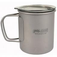 RHINO 犀牛 KT-83 超輕鈦合金斷熱杯300ml 折疊手把 鈦杯 露營 登山 保溫杯 湯杯 隔熱杯